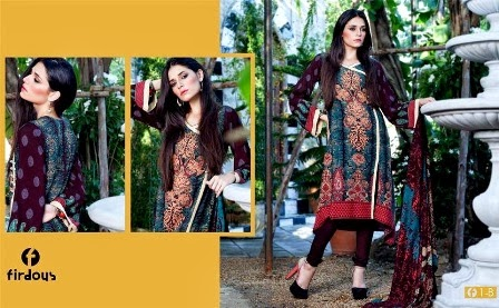 Latest Firdous Designs Printed Linen