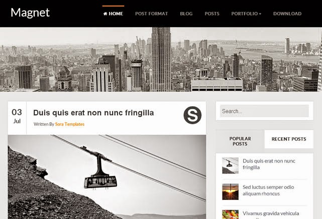 Magnet Responsive Blogger Template