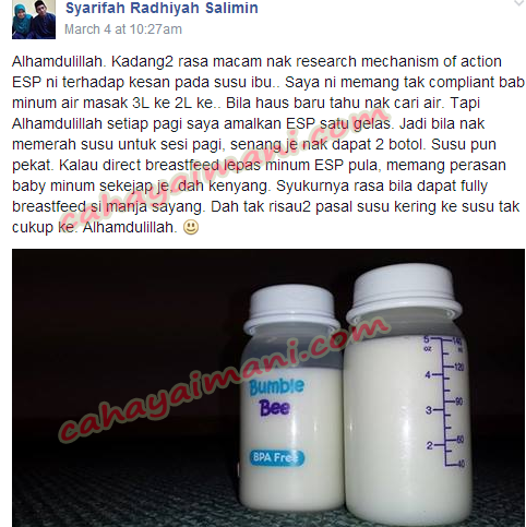 ESP Shaklee Milk-Booster Pilihan Ibu