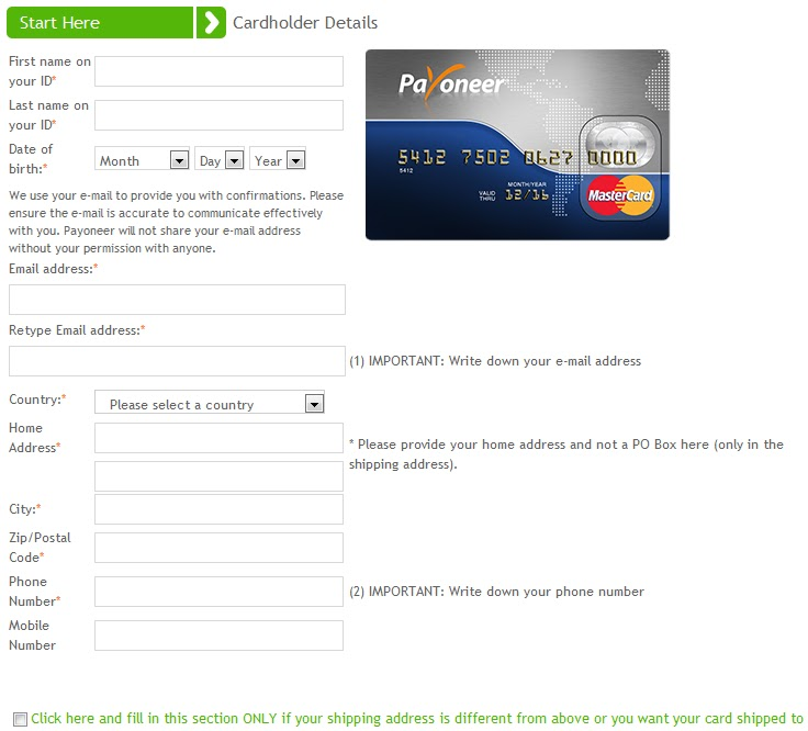 How to set up a Payoneer account?