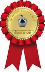 PREMIO MANZANA DE PLATA AL BLOG PALABRAS AZULES