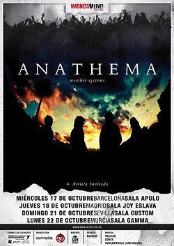 Anathema en concierto en Barcelona, Madrid, Sevilla y Murcia en Octubre