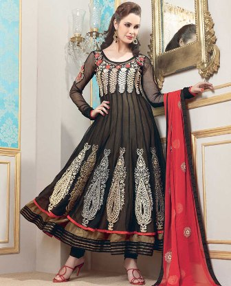 Beautiful-Black-Churidar-Kameez