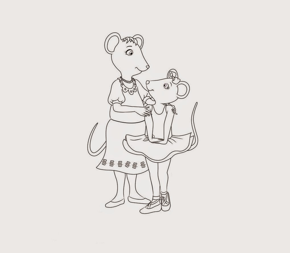 Angelina Ballerina Coloring Drawing Free wallpaper
