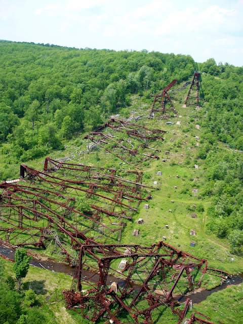 Damage to the Kinzua bridge from tornado