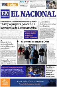 23/01/2020 PRIMERA PAGINA DE EL NACIONAL