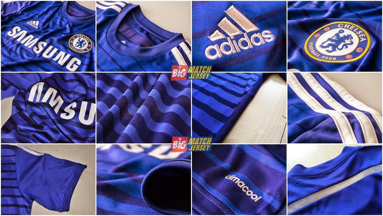 Detail Jersey Chelsea Home Terbaru 2014-2015 Adidas