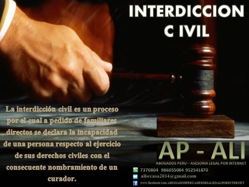INTERDICCIÓN CIVIL