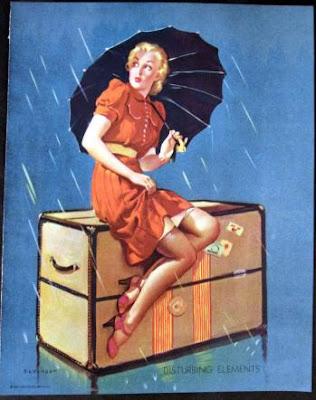 vintage pin-up poster art