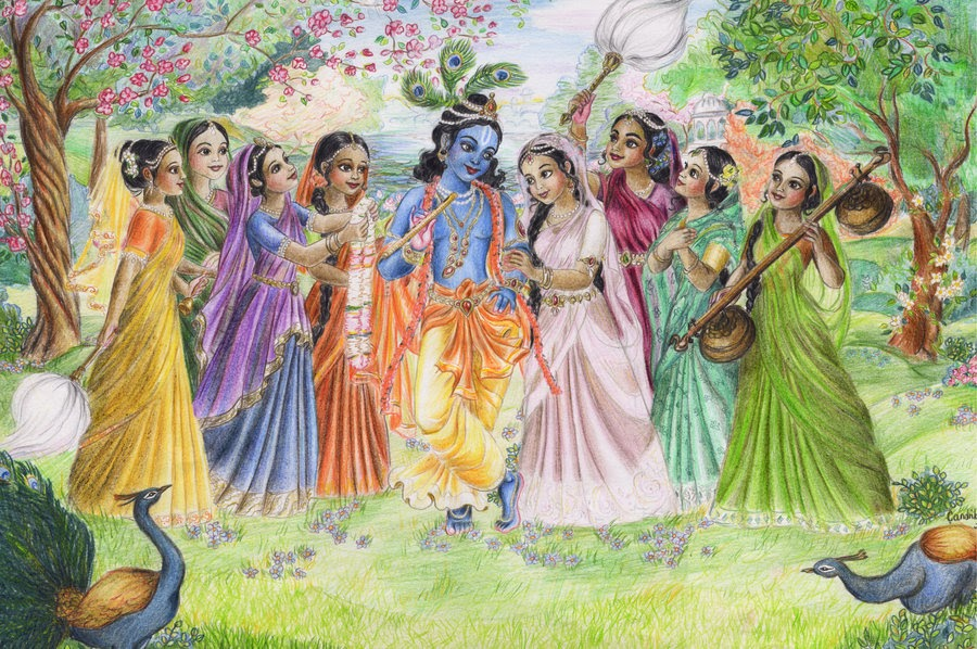 love for krishna The story takes a bad twist when people misinterpret the love between divine power and human beings a woman was scolded by her husband her husband said, 'you talk about krishna, sing for him, dance with him.