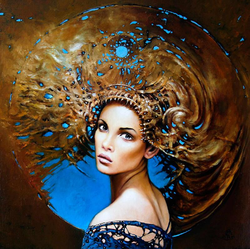 02-Karol-Bąk-Beautifully-Stylised-Portrait-Paintings-www-designstack-co