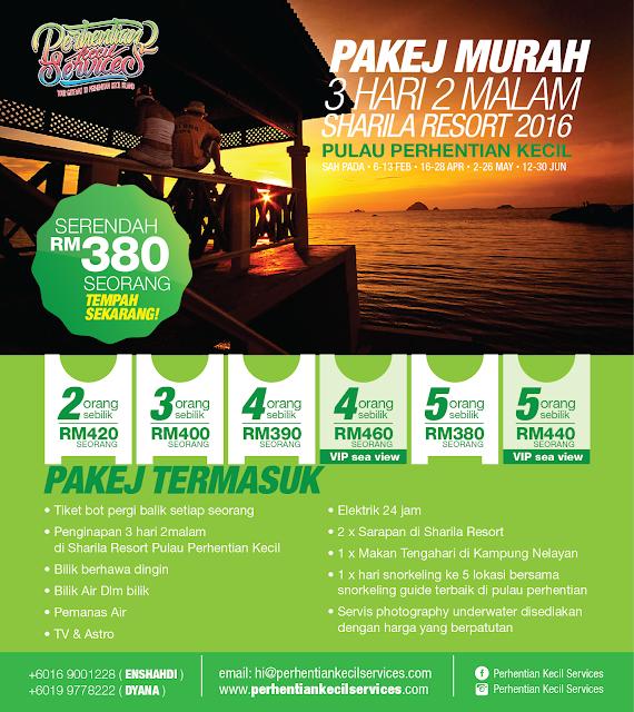 Pakej Pulau Perhentian Kecil 2016