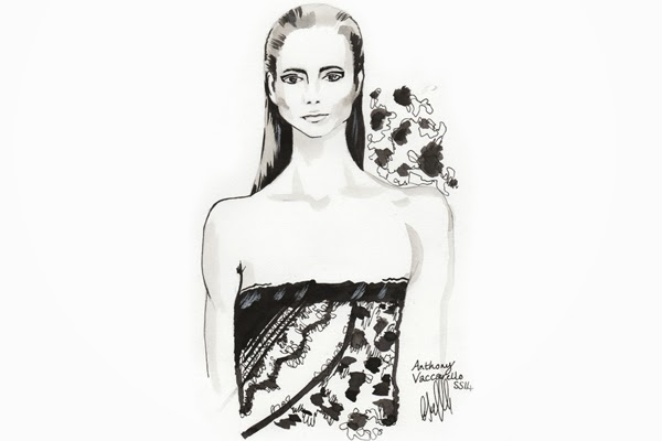 Anthony Vaccarelo, Ground Zero, Paris, Fashion, Paris Fashion Week, PFW, illustration, art, caroline jeffery, blogger, drawing, model, catwalk, beauty, style, creative, LFW, London, fashion, illustrator, LFWend, creative,