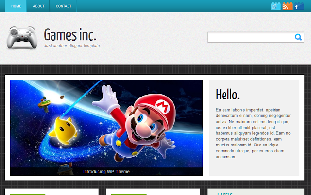 Games Gaming Theme Blogger Template