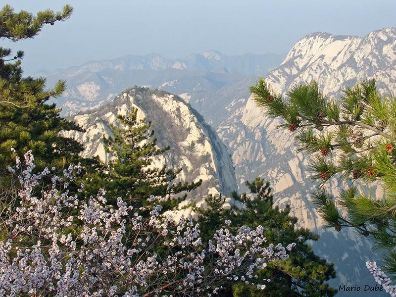 Panorama sublime du haut du mont Hua (Chine)