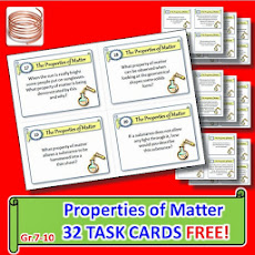 FREE PROPERTIES OF MATTER TASK CARDS