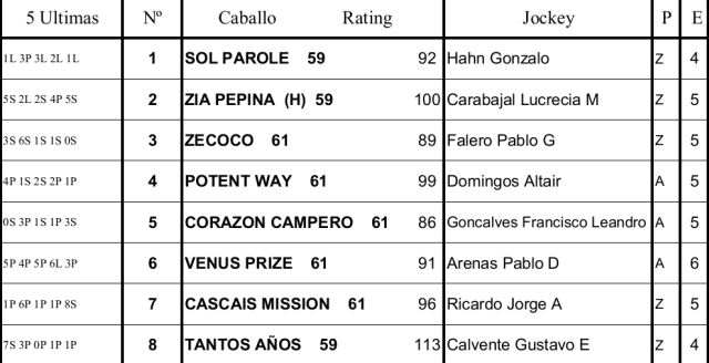 Programa Palermo Clásico Casares