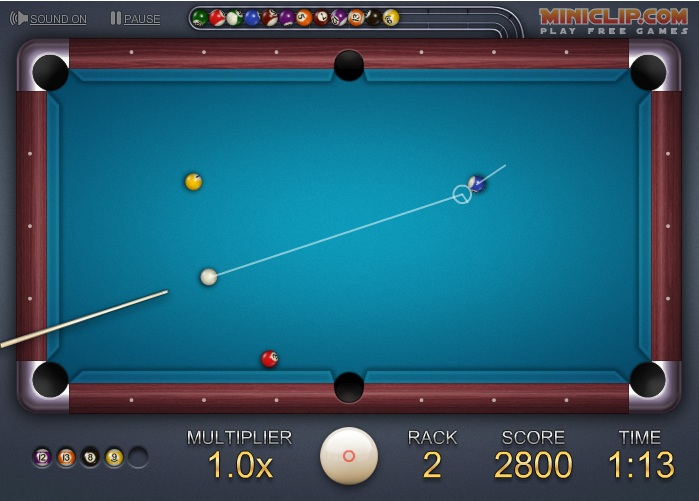 ... pool board in this 8 Ball Quick fire pool game before time runs out
