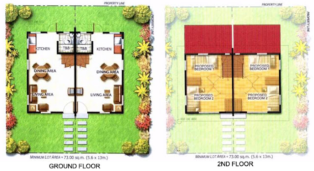 Lia Duplex House Model Floor Plan at Anila Park Taytay
