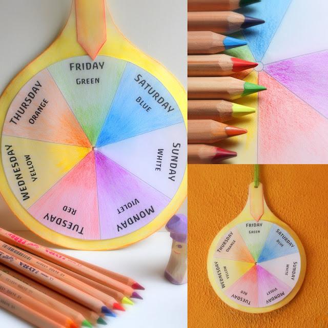 Daily Colours Week Rhythm Colour Wheel Free Pdf Pattern Download
