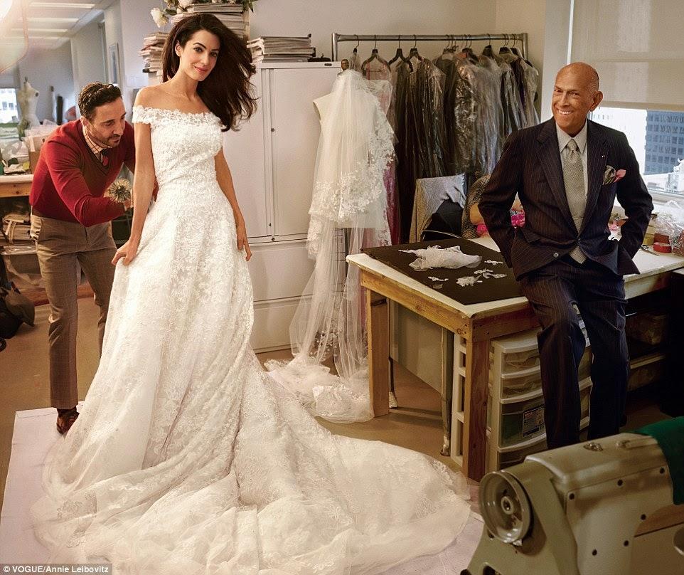 Oscar de la Renta with Amal Clooney for VOGUE by Annie Leibovitz | Ses Rêveries