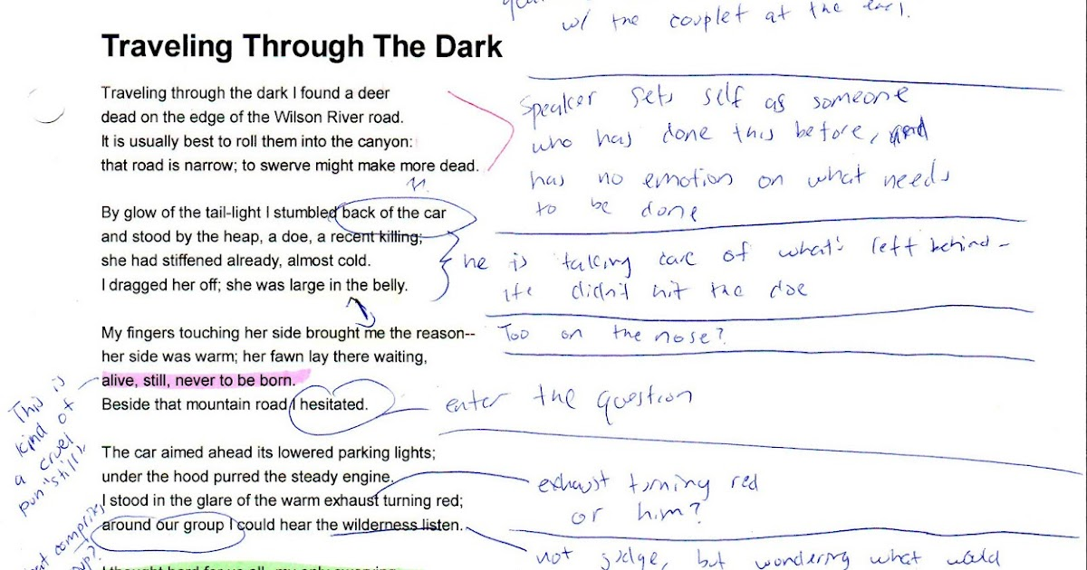 traveling through the dark essay Free essay on themes and critical analysis of traveling through the dark available totally free at echeatcom, the largest free essay community.