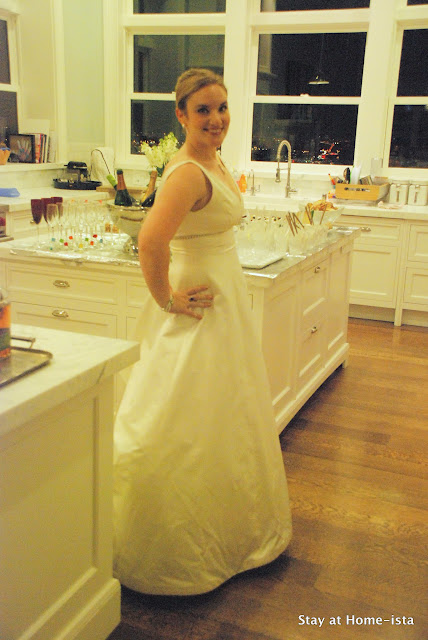 wear your wedding dress again for an anniversary party