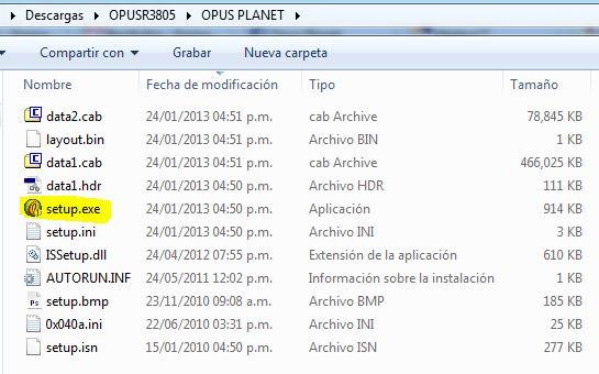 Pasos Para Actualizar Opus Planet