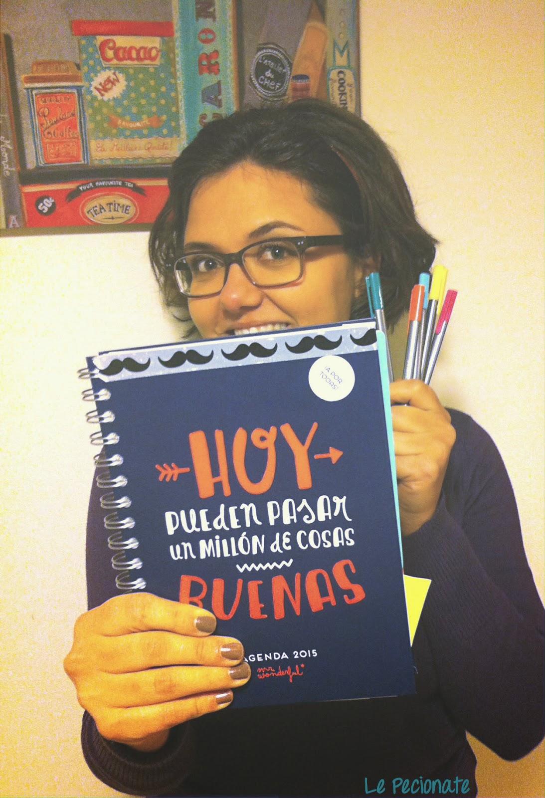 La mia agenda Mr Wonderful. Quest'anno possono succedere un milione di cose belle | pecionate.blogspot.com
