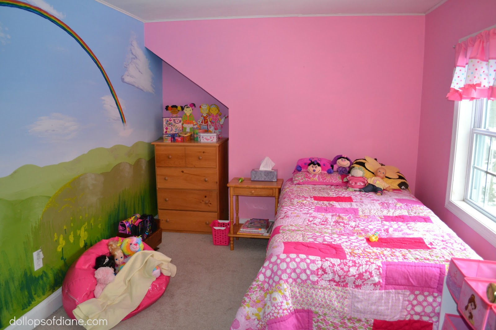 Dollops of diane the perfect room for a five year old girl for 6 year girl bedroom ideas