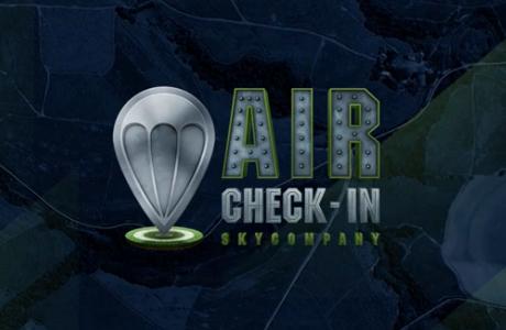 sky company, salto en paracaidas, check-in, app móvil