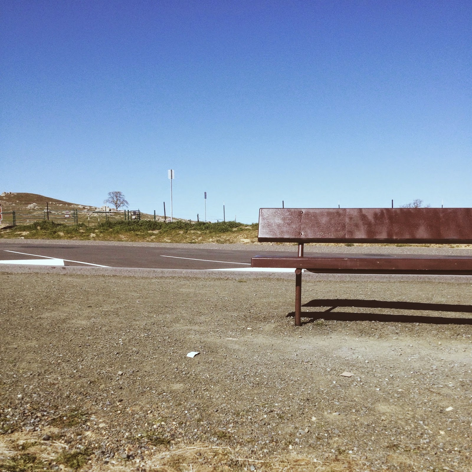 bench by road
