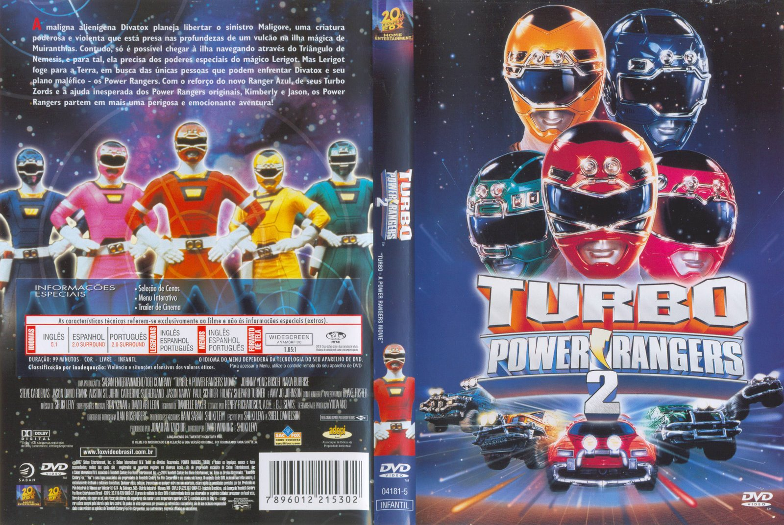 capas filmes aventura power rangers 2 turbo. Black Bedroom Furniture Sets. Home Design Ideas