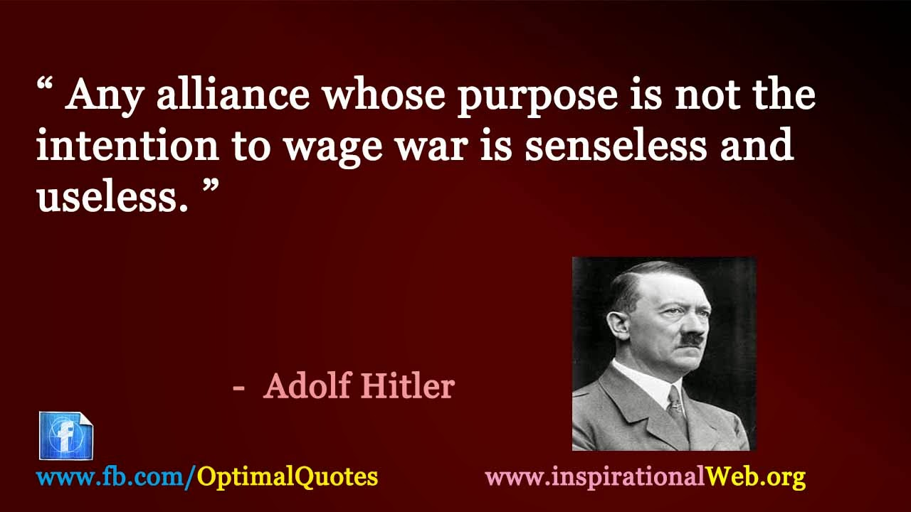 Great Famous Quotes Great Thoughts Of Adolf Hitler  Famous Inspirational Quotes Web
