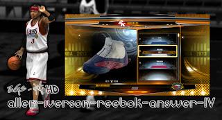 NBA 2K13 Reebok Answer IV Allen Iverson Shoes Mod