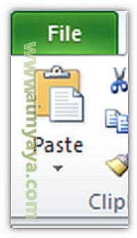 Gambar: Paste di Microsoft Excel
