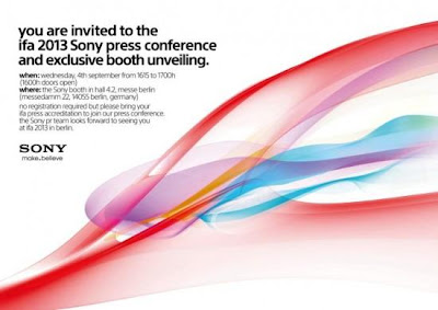 Sony IFA 2013 Confirmed : What will Sony Introduce?