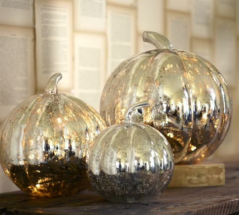 The Silver Lining Antique Mercury Glass Pumpkins