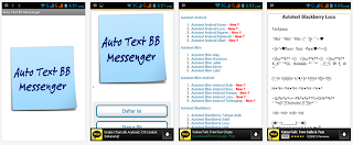 menambahkan autotext BB messenger
