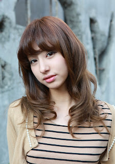 Long Korean Hairstyle for Asian Girls 2012