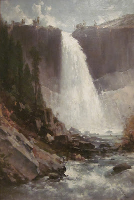 Thomas Hill Vernal Falls Niagara Painting Hudson River School