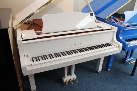 New and used yamaha pianos for sale yamaha uprights for White yamaha piano