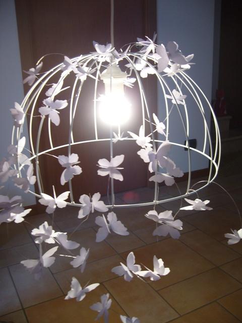 La Tela di Penelope: Lampadario Farfalle