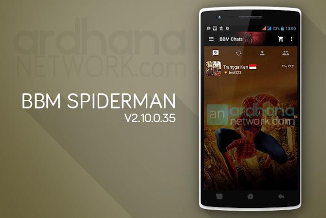 BBM Spiderman - BBM Android V2.10.0.35
