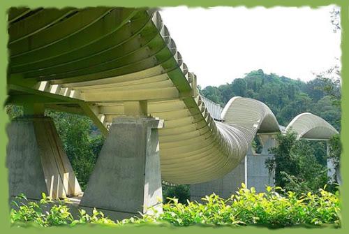 Летающий мост Telok Blangah Хилл парка в Сингапуре