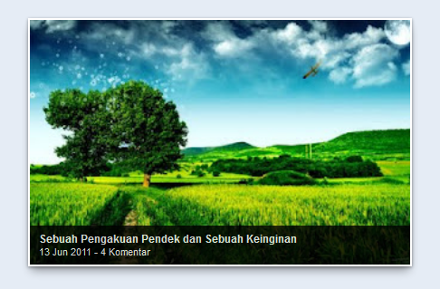 Cara Gampang Membuat Slideshow atau Featured Content Di Blog | Acep