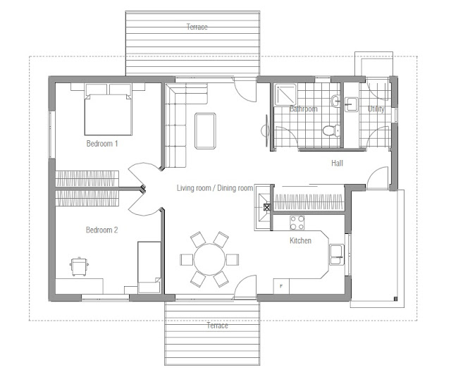 Affordable home plans affordable home plan ch93 for Affordable one story house plans
