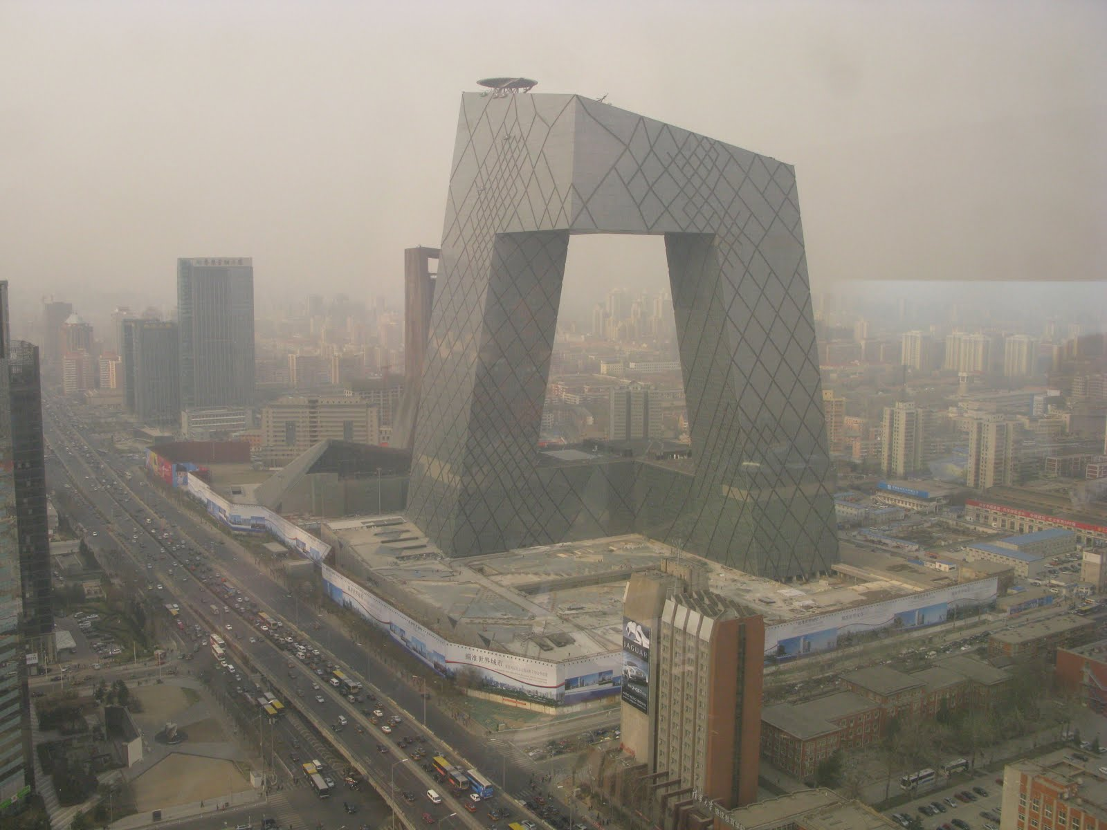 Pollution over beijing for Farcical antonym