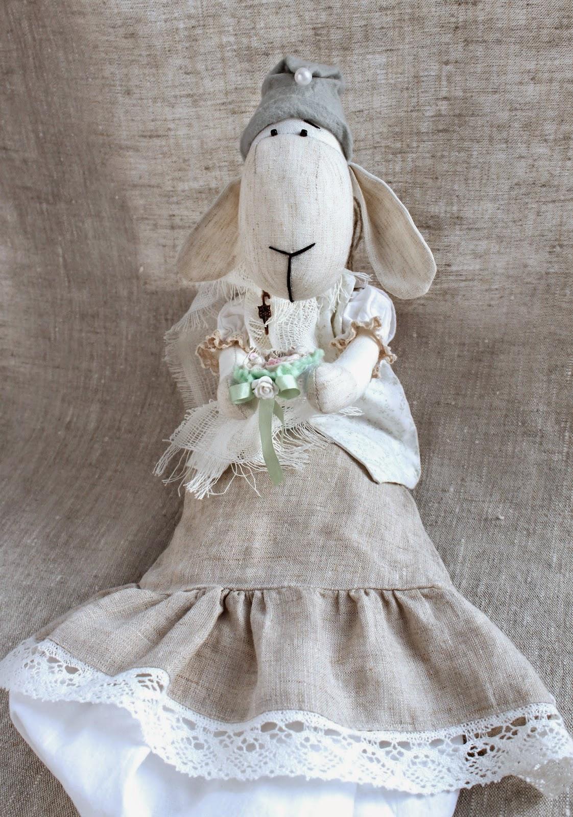 бежевый, овечка, овца, новогодний подарок, в стиле прованс, стиль прованс, прованс кухня, прованский шик, прованские мотивы, пакетница, барашки, овечки, подарок на 8 марта, восьмое марта, подарок девушке