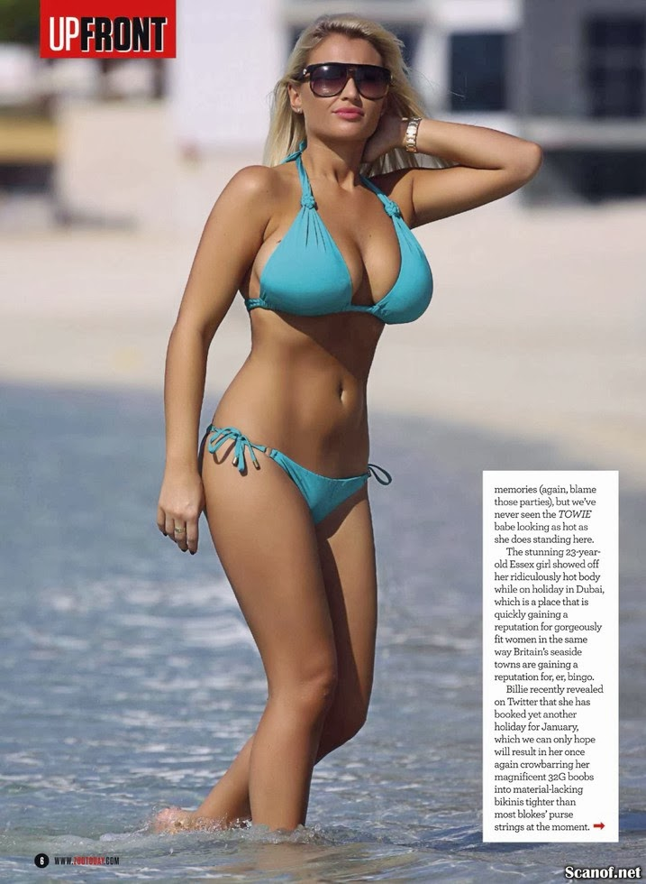 Magazine Photoshoot : Billie Faiers Hot Bikini Photoshoot For Zoo Magazine January 2014 Issue